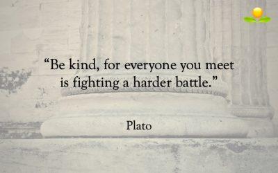 12. Plato – Va snäll emot andra