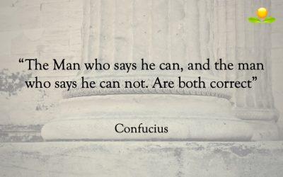 23. Confucius  – Den som kan och den som inte kan